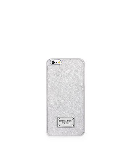 Metallic Leather Smartphone Case - SILVER - 32T5MELL1M