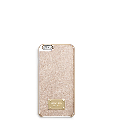 Metallic Leather Case for iPhone 6 Plus - PALE GOLD - 32T5MELL1M