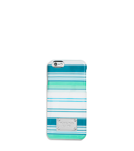 Striped Phone Case For iPhone 6 - TILE BLUE/MULTI - 32T5SELL5U