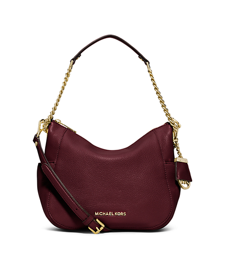 Chandler Medium Leather Shoulder Bag - MERLOT - 30F5GCUL2L