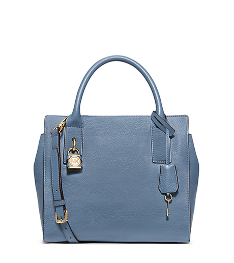 McKenna Medium Leather Satchel - CORNFLOWER - 30F5GEKS2L