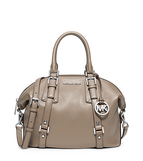 Bedford Medium Leather Satchel - DARK TAUPE - 30F5SBFS2L