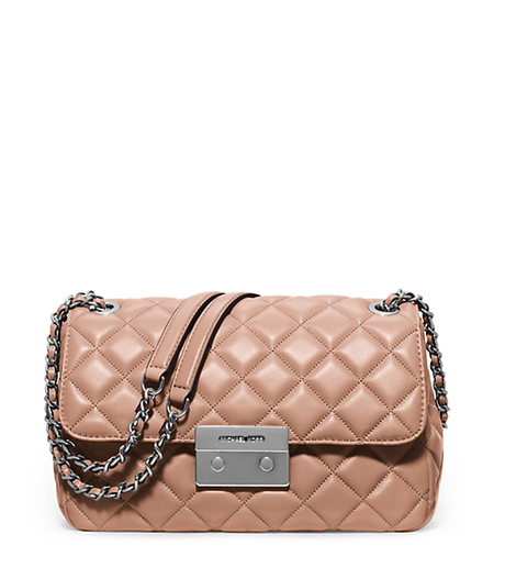 Sloan Large Quilted-Leather Shoulder Bag - BLUSH - 30F5SSLL3L