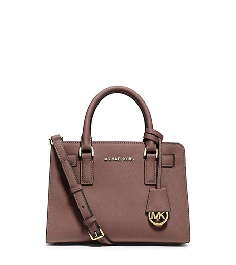 Dillon Small Saffiano Leather Satchel - DUSTY ROSE - 30H4GAIM1L