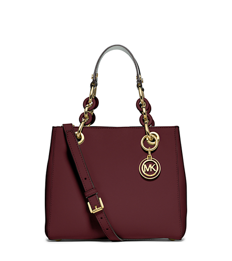 Cynthia Small Leather Satchel - MERLOT - 30S5GCYS1L
