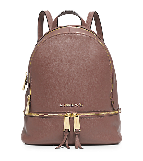 Rhea Small Leather Backpack - DUSTY ROSE - 30S5GEZB1L
