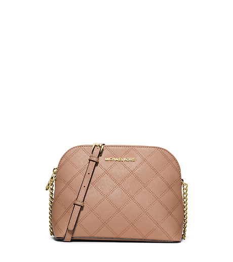 Cindy Large Quilted-Leather Crossbody - BLUSH - 32F5GCPC7T