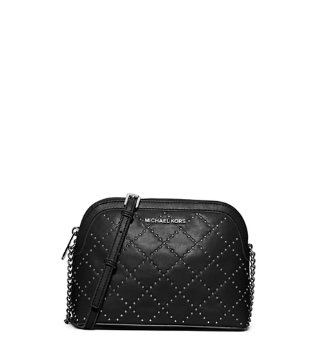 Cindy Large Studded Leather Crossbody - BLACK - 32F5TM2C3L