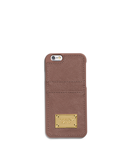 Saffiano Leather Pocket Case For iPhone 6 - DUSTY ROSE - 32H4GELL3L