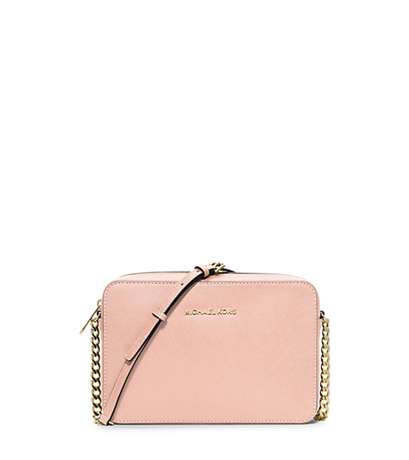 Jet Set Large Saffiano Leather Crossbody - PASTEL PINK - 32S4GTVC3L