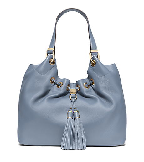 Camden Large Leather Drawstring Tote - PALE BLUE - 30F5GMDE3L