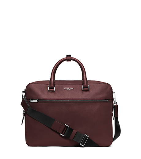 Harrison Medium Leather Briefcase - OXBLOOD - 33F5LHRA2L