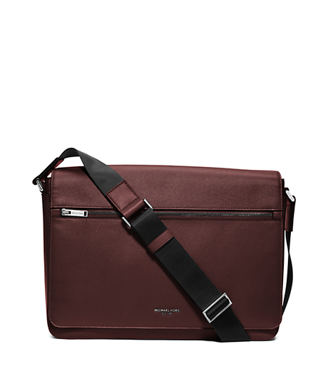 Harrison Large Leather Messenger - OXBLOOD - 33F5LHRM7L