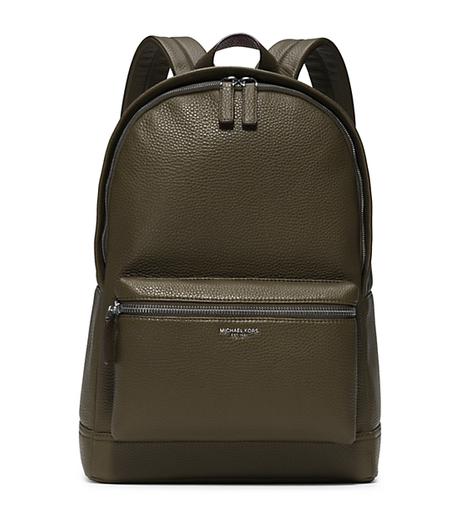 Bryant Leather Backpack - ARMY - 33F5LYTB2L