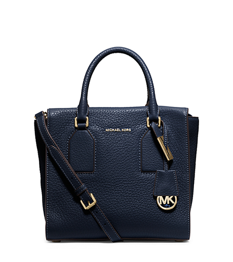 Selby Medium Leather Satchel - NAVY - 30H5GEYS2L