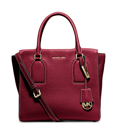 Selby Large Pebbled-Leather Satchel - CHERRY - 30H5GEYS3L