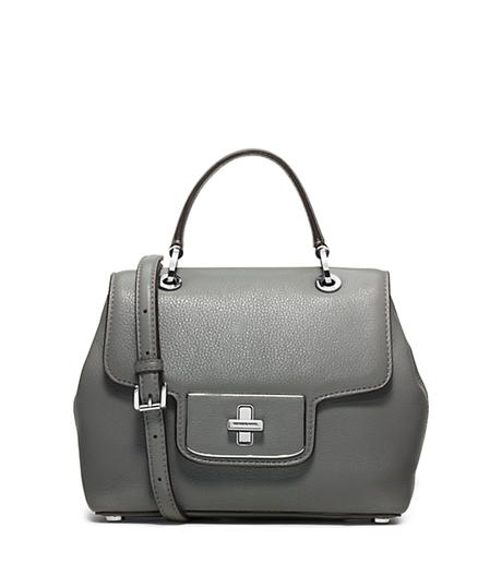 Emery Small Leather Satchel - STEEL GREY - 30H5SEOS1L