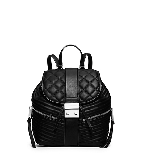 Elisa Small Leather Backpack - BLACK - 30H5SEXB1L