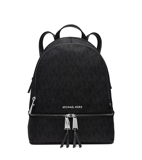Rhea Medium Logo Backpack - BLACK - 30H5SEZB1B