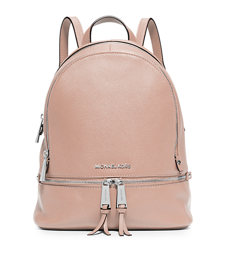 Rhea Small Leather Backpack - BALLET - 30S5SEZB1L