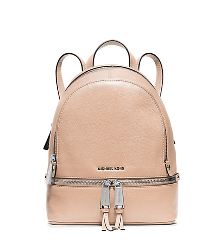 Rhea Extra-Small Studded Leather Backpack - BALLET - 30S5SEZB8L