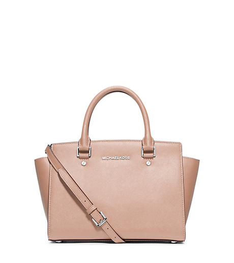 Selma Medium Saffiano Leather Satchel - BALLET - 30T3SLMS2L
