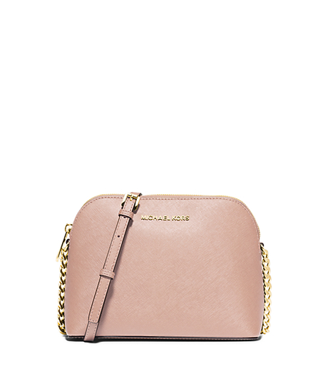 Cindy Large Saffiano Leather Crossbody - BALLET - 32H4GCPC7L