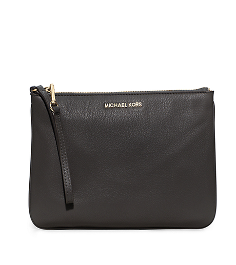 Bedford Extra-Large Leather Wristlet - BLACK - 32H5GBFW7L