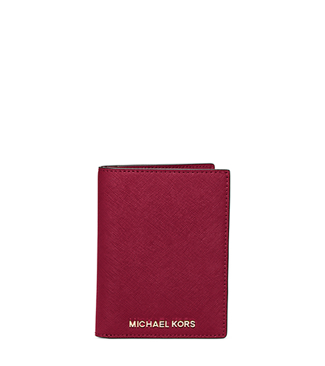 Jet Set Travel Saffiano Leather Passport - CHERRY - 32H5GTVT3L