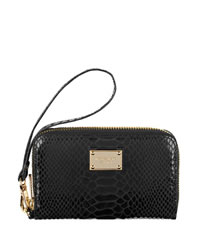 MICHAEL Michael Kors Exclusive iPhone® 3Gs, 4s & 4 Wallet, Black Snake-Embossed - BLACK - 8158A0S