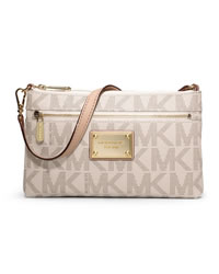 MICHAEL Michael Kors Jet Set Large Wristlet - BROWN - 32F1GJSW3B
