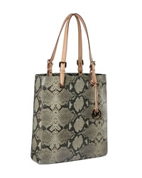 MICHAEL Michael Kors Exclusive Macbook® Python-Embossed Tote - DARK SAND - 291286S