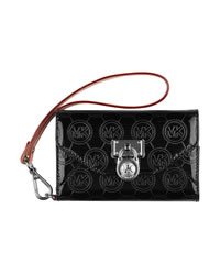 MICHAEL Michael Kors Jet Set Clutch Bag iPhone Wallet Case - JET SET BLACK - 8157B6S