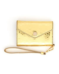 MICHAEL Michael Kors Python-Embossed Wristlet - GOLD - 32H2MELL6Y-710