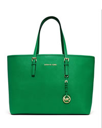 MICHAEL Michael Kors Medium Jet Set Multifunction Saffiano Tote - PALM - 30S3GTVT6L