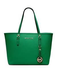 MICHAEL Michael Kors Jet Set Small Saffiano Travel Tote - PALM - 30H1GTVT1L