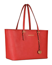 MICHAEL Michael Kors Jet Set Macbook Travel Tote - RED - 8161B0