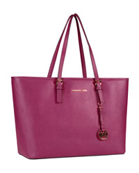 MICHAEL Michael Kors Jet Set Macbook Travel Tote - PINK - 8161C4