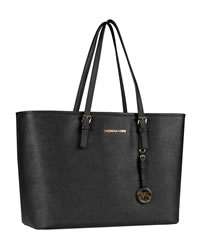 MICHAEL Michael Kors Jet Set Macbook Travel Tote - BLACK - 8161B9
