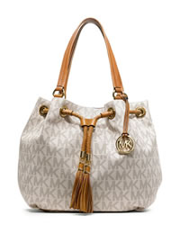 MICHAEL Michael Kors Large Jet Set Gathered Tote - VANILLA - 30T3GTTT9B