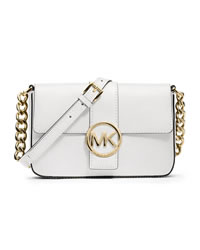 MICHAEL Michael Kors Small Fulton Saffiano Messenger - OPTIC WHITE - 32T3GFTC1L
