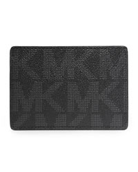 Michael Kors Logo PVC Card Carrier - BLACK - 39F2MMND1B