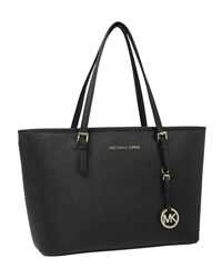 MICHAEL Michael Kors Jet Set Saffiano iPad Travel Tote - BLACK - 8401B0