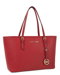 MICHAEL Michael Kors Jet Set Saffiano iPad Travel Tote - RED - 8401B9