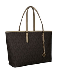 MICHAEL Michael Kors Jet Set Logo Macbook Travel Tote - CHOCOLATE - 8395D1