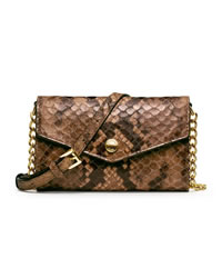 MICHAEL Michael Kors Snake-Embossed iPhone Crossbody Case - SAND - 32F3MELC1E