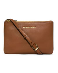 MICHAEL Michael Kors Bedford Gusset Crossbody Bag - LUGGAGE - 32T3GBFC3L