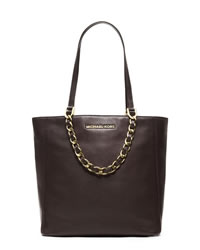 MICHAEL Michael Kors Medium Harper Pebbled Tote - DARK CHOCOLATE - 30H3GRPT2L