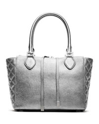 Michael Kors Miranda Quilted-Side Tote - SILVER - 31F3MMDT6M