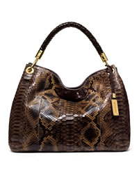 Michael Kors Large Skorpios Shoulder Bag - CHOCOLATE MULTI - 31F3GSKL6P